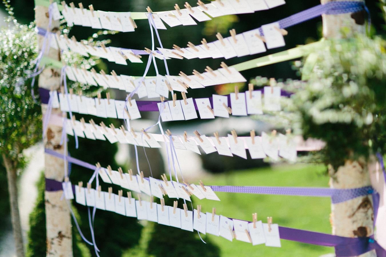 DW Weddings Sitzplan Hochzeit