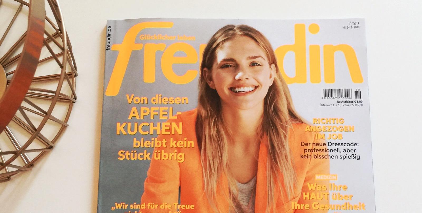 Artikel in der Zeitschrift Freundin